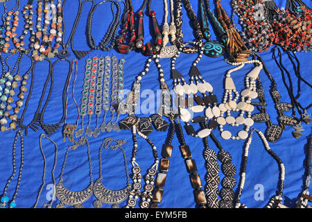 Jewellery things to the sales, Ourika valley, the Atlas Mountains, Morocco, - Stock Photo