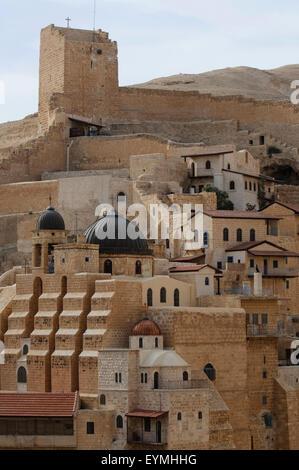 Mar Saba Monastery, Palestine, Israel - Stock Photo