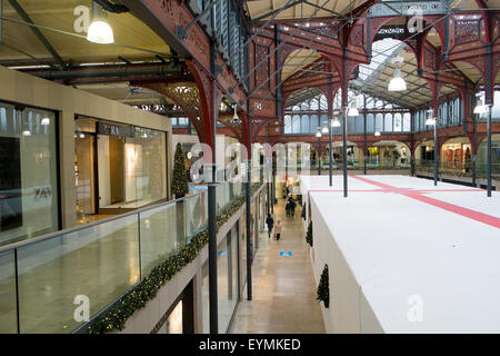 Market hall in the lancashire town of Bolton is a shopping mall , it was originally opened in 1855, lancashire,england - Stock Photo