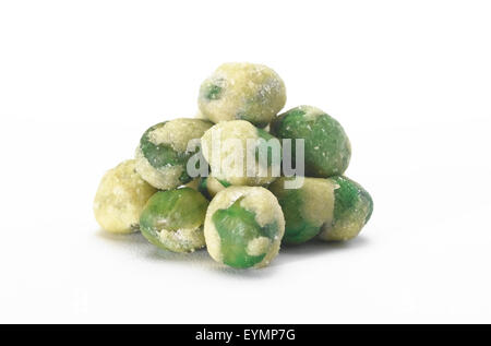 Wasabi  pea's isolated - Stock Photo