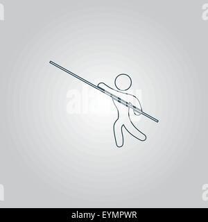 Pole vault athlete - Stock Photo