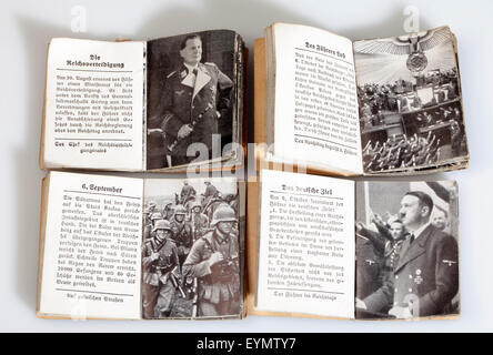 Nazi Third Reich propaganda, magazines of Winterhilfswerk or Winter Relief of the German Peoples, 1939, - Stock Photo