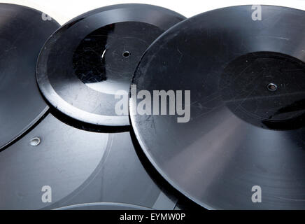 Old shellac records, early sample pressure - Stock Photo