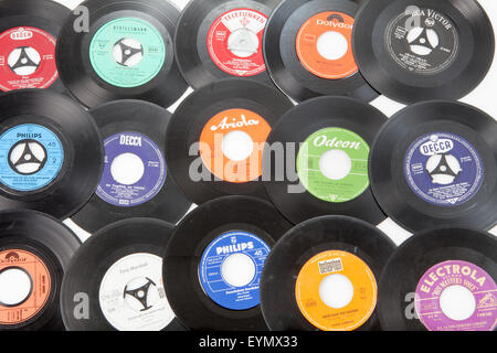old vinyl singles stock photo royalty free image 52618213 alamy. Black Bedroom Furniture Sets. Home Design Ideas