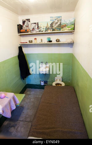 Prison Cells in Alcatraz, San Francisco, USA - Stock Photo
