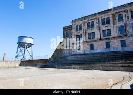 The Recreation Yard in Alcatraz, San Francisco, USA - Stock Photo