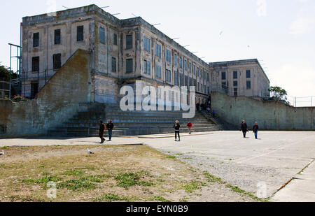 The Recreation Yard in Alcatraz, San Francisco, USA - Stock Photo