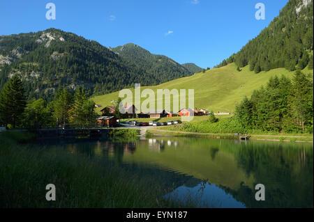 Village of Steg, Liechtenstein FL - Stock Photo