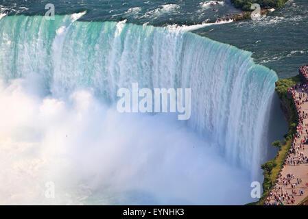 Niagara Falls, aerial view, Canada - Stock Photo