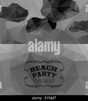 Polygonal seaside view summer - Stock Photo