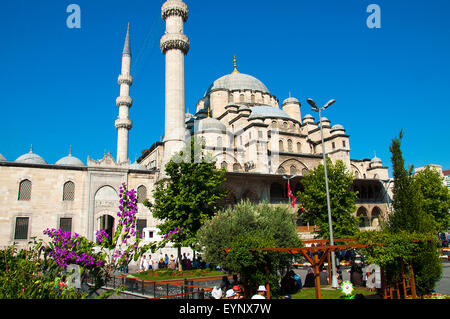 The New Mosque (Yeni cami), Eminonu district, Istanbul, Turkey. - Stock Photo