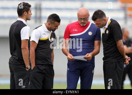 ITALY, Lignano: Udinese's Head Coach Stefano Colantuono during the friendly pre-season football match Udinese Calcio - Stock Photo