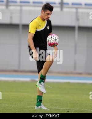 ITALY, Lignano: Udinese's goalkeeper Simone Scuffet during the friendly pre-season football match Udinese Calcio - Stock Photo