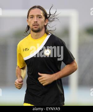 ITALY, Lignano: Udinese's midfielder Manuel Iturra during the friendly pre-season football match Udinese Calcio - Stock Photo