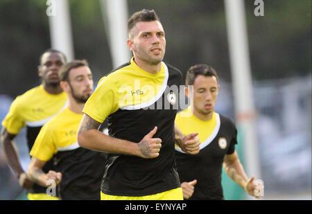 ITALY, Lignano: Udinese's defender Maurizio Domizzi during the friendly pre-season football match Udinese Calcio - Stock Photo