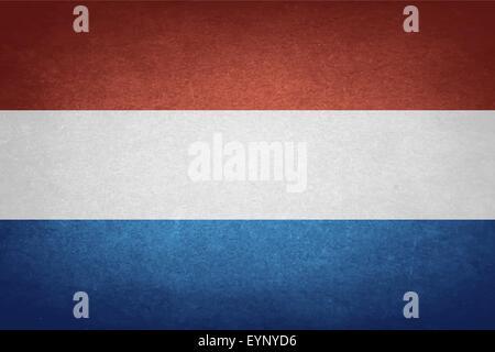 Grunge Flag Of Netherlands - Stock Photo