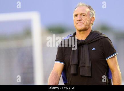 ITALY, Lignano: Bastia's Head Coach Ghislain Printant during the friendly pre-season football match Udinese Calcio - Stock Photo