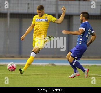 ITALY, Lignano: Udinese's midfielder Silvan Widmer during the friendly pre-season football match Udinese Calcio - Stock Photo