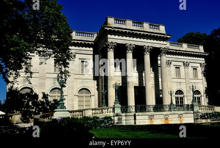 Newport, RI:  1892 Marble House, designed by architect Richard Morris Hunt, as a summer home for Alva and William - Stock Photo