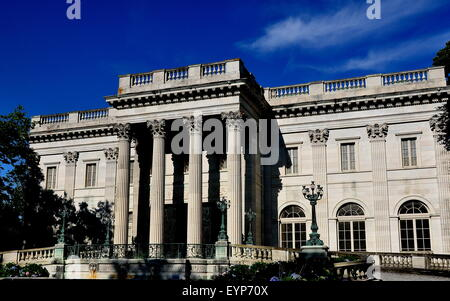 Newport, RI:  1892 Marble House, designed by noted architect Richard Morris Hunt, summer home for Alva and William - Stock Photo