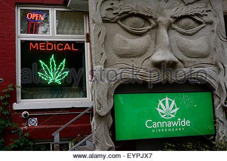 Toronto, Canada, Cannabis Medical Marihuana dispensary in Kensington Market - Stock Photo