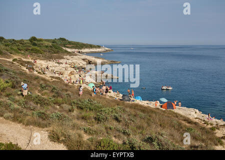 Cape Kamenjak, Pula, Croatia. A nature reserve and a popular spot for cliff-jumping with many secluded beaches and - Stock Photo