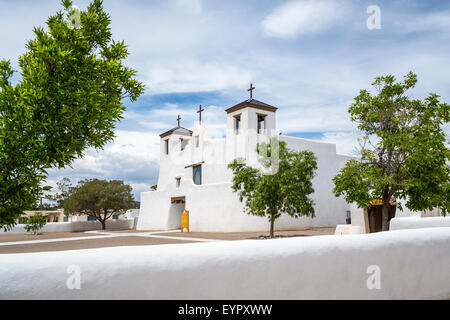 The St. Augustine Church in the Pueblo of Isleta, New Mexico, USA. - Stock Photo