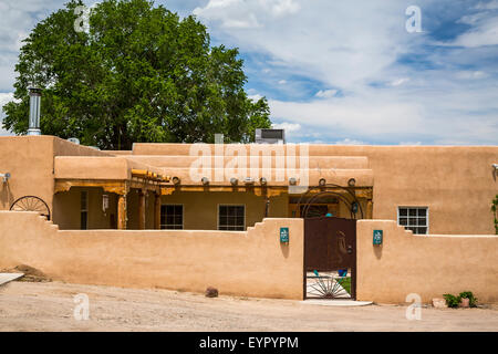A village home in the Pueblo of Isleta, New Mexico, USA. - Stock Photo