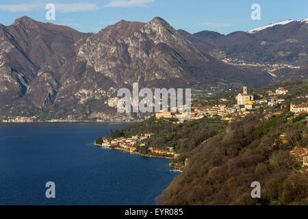 Italy, Lombardy, Iseo lake, Monte Isola - Stock Photo