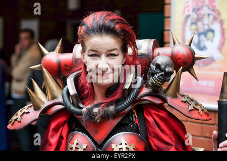 Adult Female Comic Con fan in Cosplay costume - Stock Photo