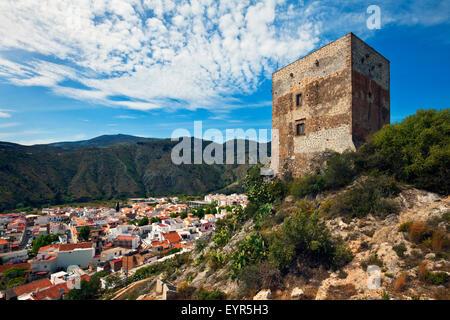 Castillo de Vélez built between 1494 and 1523 in Vélez de Benaudalla, Costa Tropical, Granada Province, Andalucia, - Stock Photo