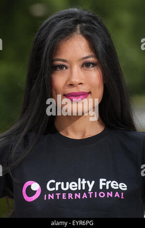 Vanessa Mae promotes Cruelty Free at the Mandarin Oriental.  Featuring: Vanessa Mae Where: London, United Kingdom - Stock Photo
