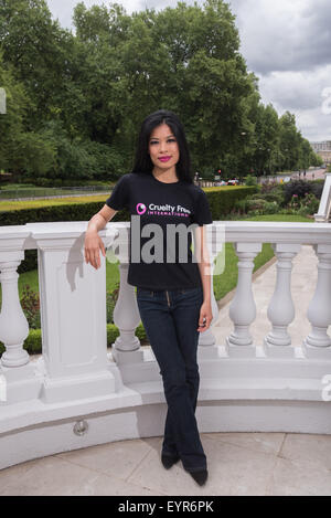 Vanessa Mae promotes Cruelty Free at the Mandarin Oriental.  Featuring: Vanessa Mae Where: London, United Kingdom - Stock Photo