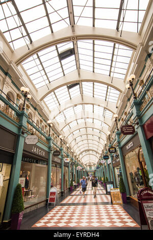 People Shopping at The Great Western Arcade Birmingham West Midlands UK - Stock Photo