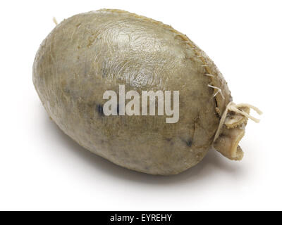 homemade haggis, scotland food isolated on white background - Stock Photo