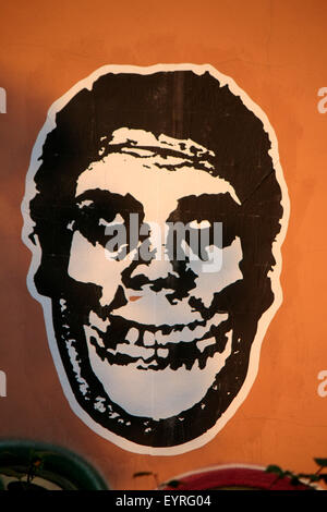 Shepard Fairey 'Andre the Giant' Graffity Berlin. - Stock Photo