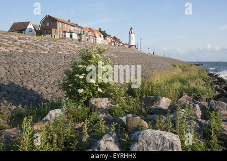 Lighthouse of Urk, a fishing village in the Netherlands - Stock Photo