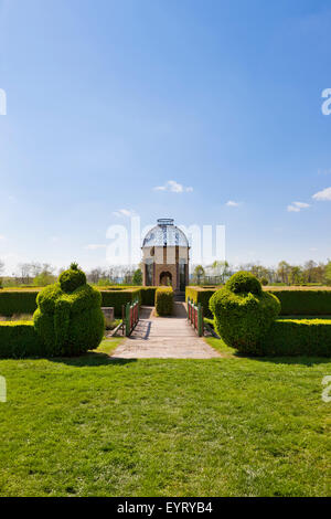 Pavilion in the castle grounds, Chateau Cormatin, France - Stock Photo