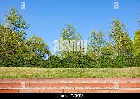 stand in the castle grounds, Cormatin, France - Stock Photo