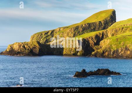 Sheep grazing, Fair Isle, Shetland, UK Stock Photo, Royalty Free ...