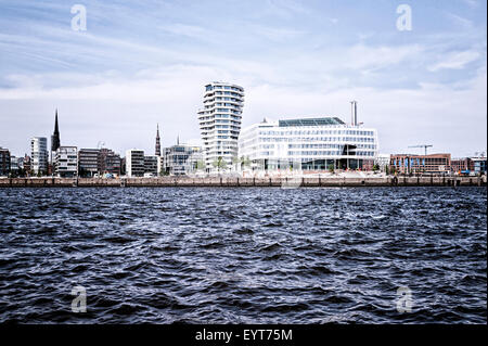 Hamburg, harbour, HafenCity, - Stock Photo