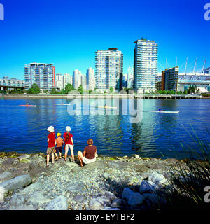 Vancouver, BC, British Columbia, Canada - City Skyline at False Creek and Yaletown, High Rise Condominium Buildings, - Stock Photo