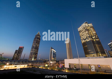 Germany, Hesse, Frankfurt am Main, skyline, town view from the Plaza shopping centre - Stock Photo