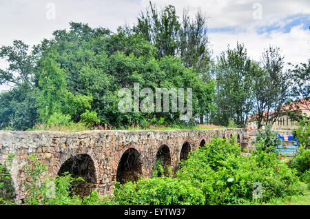 Aqueduct at the catholic mission in Jau, Angola - Stock Photo