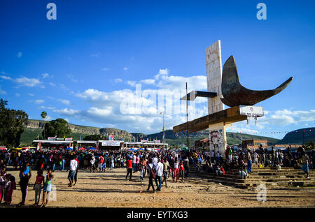 Carnival do Lubango, Angola (2014), celebrated at Praça João Paulo II - Stock Photo