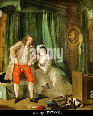 William Hogarth, After. Circa 1730-1731. Oil on canvas. J. Paul Getty Museum, Los Angeles, USA. - Stock Photo