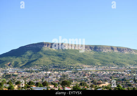 Aerial view of the city of Lubango, Angola - Stock Photo