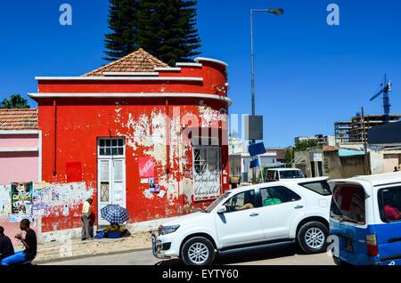 Street view of the city of Lubango, Angola - Stock Photo