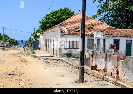 Town of Ambriz  in Angola - Stock Photo