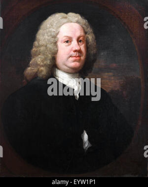 William Hogarth, Dr Benjamin Hoadly, MD. Early 1740s. Oil on canvas. Art Gallery of New South Wales, Australia. - Stock Photo